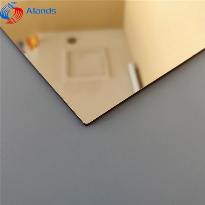 China 4 X 8 Mirror Plexi Sheets Mirrored Acrylic China Acrylic Sheets With Self Adhesive Gold Acrylic Panel