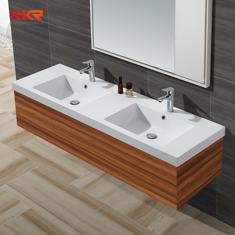 China Stone Resin Bathroom Furniture Cabinet Basin China Vanity