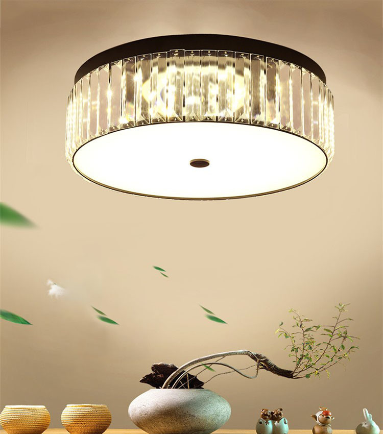 Semi Flush Crystal Ceiling Lamp Fixture
