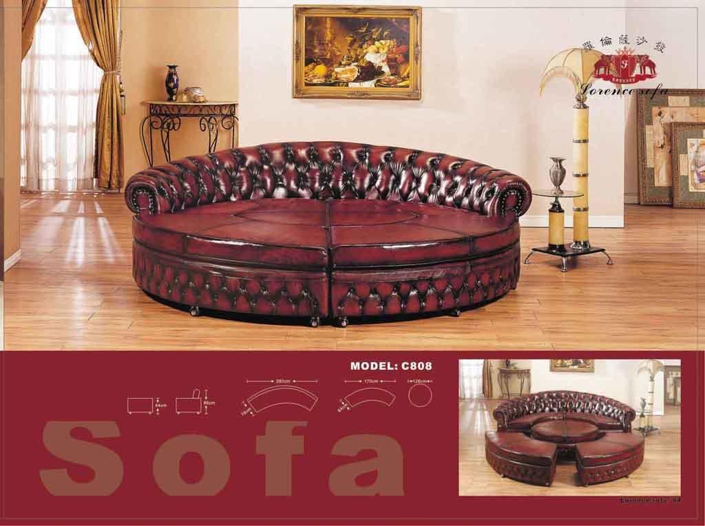 China Traditional Leather Sofa C808