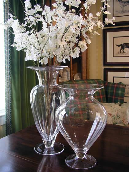 China Glass Flower Vase China Glass Vase Clear Glass Vase