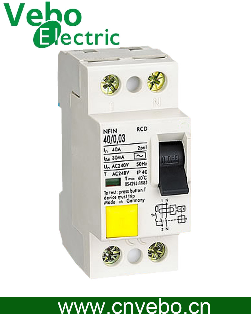 China Nfin Rcd Residual Current Device Circuit Breaker Switch With Relay Contactor