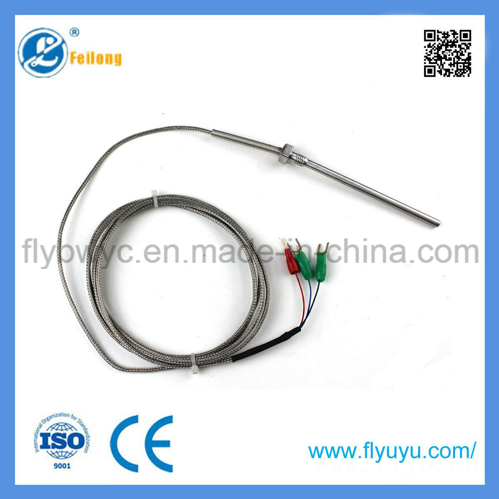 China Fixed Bolt 3 Wire Rtd Temperature Sensor PT100 Photos ...