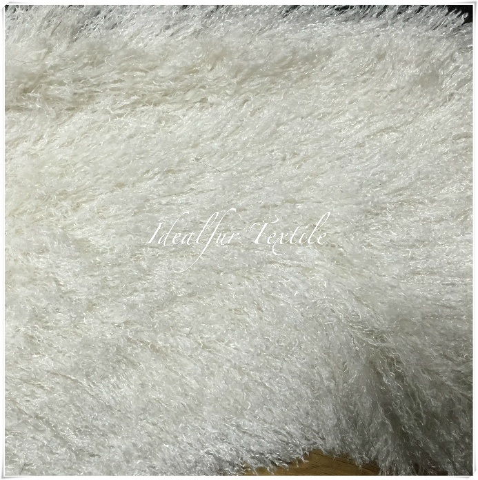 Curly Long Pile Faux Fur / Fake Fur for Garments
