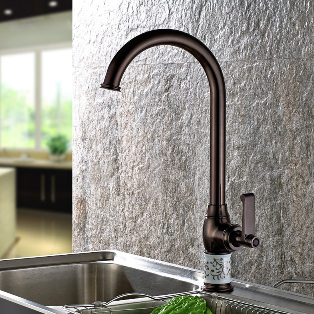 Hot Item Flg Oil Rubbed Bronze Kitchen Sink Faucet Deck Mounted