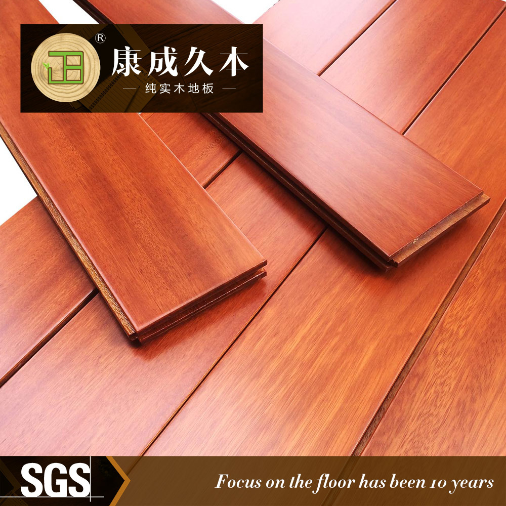China Manufacturer Solid Wood Parquet Hardwood Flooring Md 04