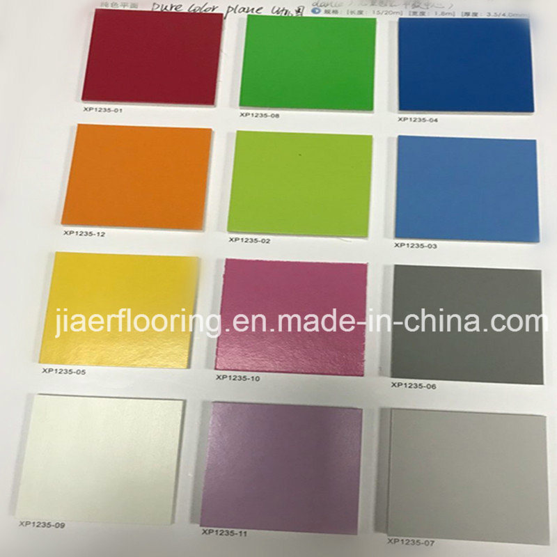 China Eco Friendly Pure Color Kids Series Pvc Vinyl Floor Flooring