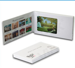 2.4 Inch TFT-LCD Brochure Card/LCD Greeting Card/Video Advertising Red Book