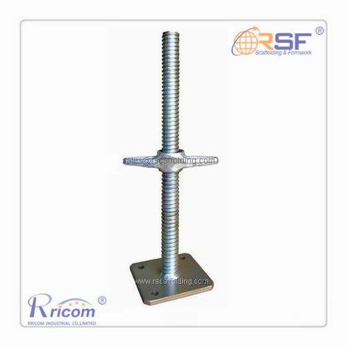 Galvanized Scaffolding Adjustable Solid Screw Jack with Base Plate pictures & photos