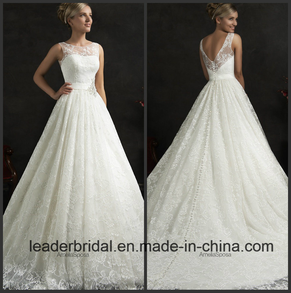 China A-Line Bridal Gowns Lace Sleeves Simple Wedding Dress Sps1517 ...