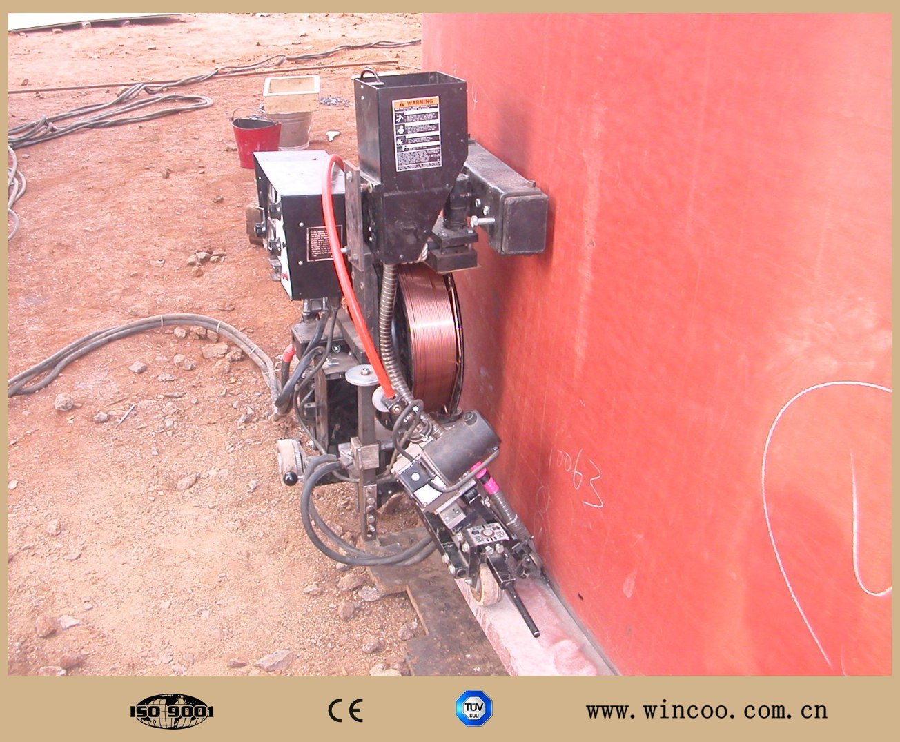 Tank Plate Welding Machine/High Efficiency Tank Bottom Welding Machine pictures & photos