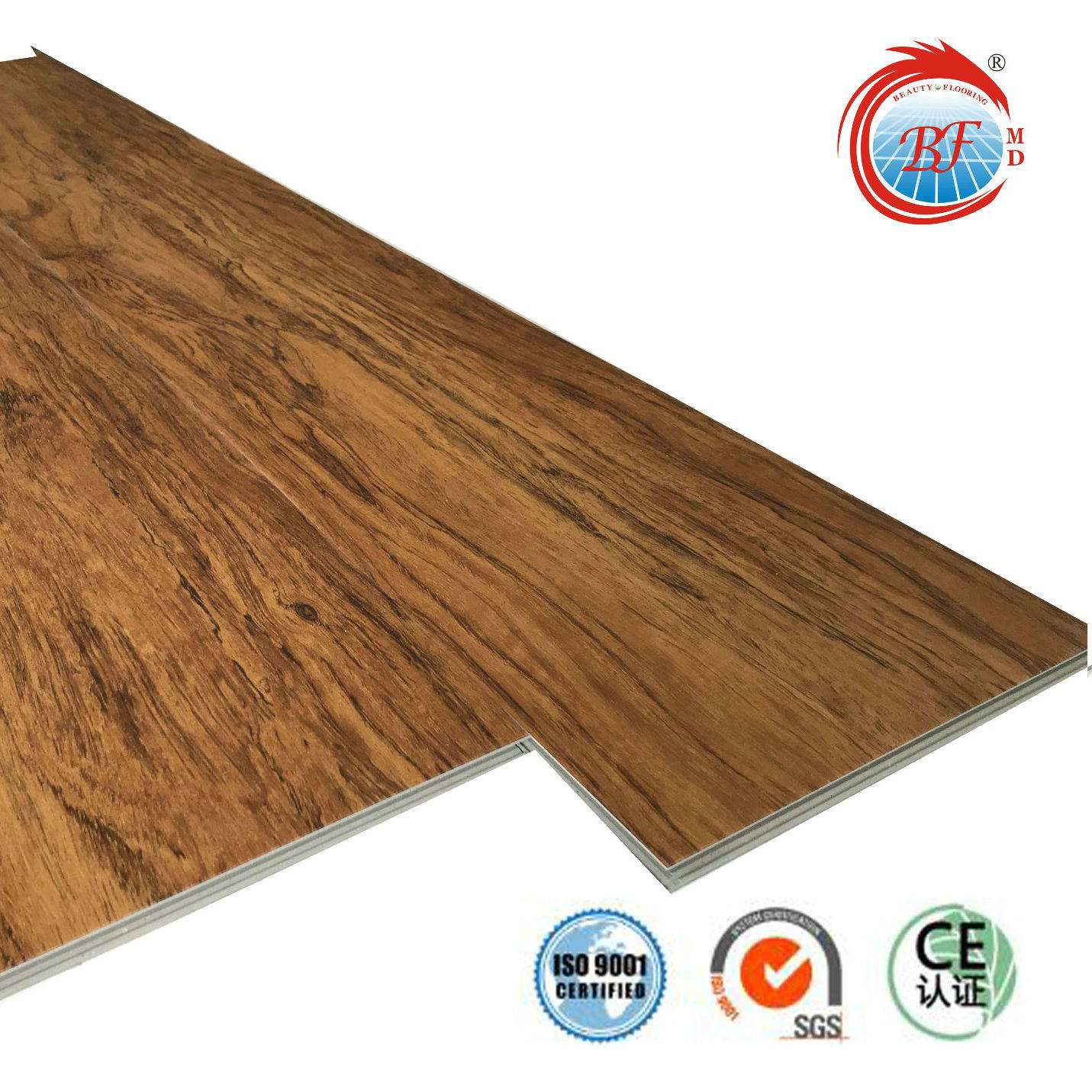 China Oak WearResistant Gray Wood Grain PVC Click Vinyl Flooring - What is lvt flooring made of