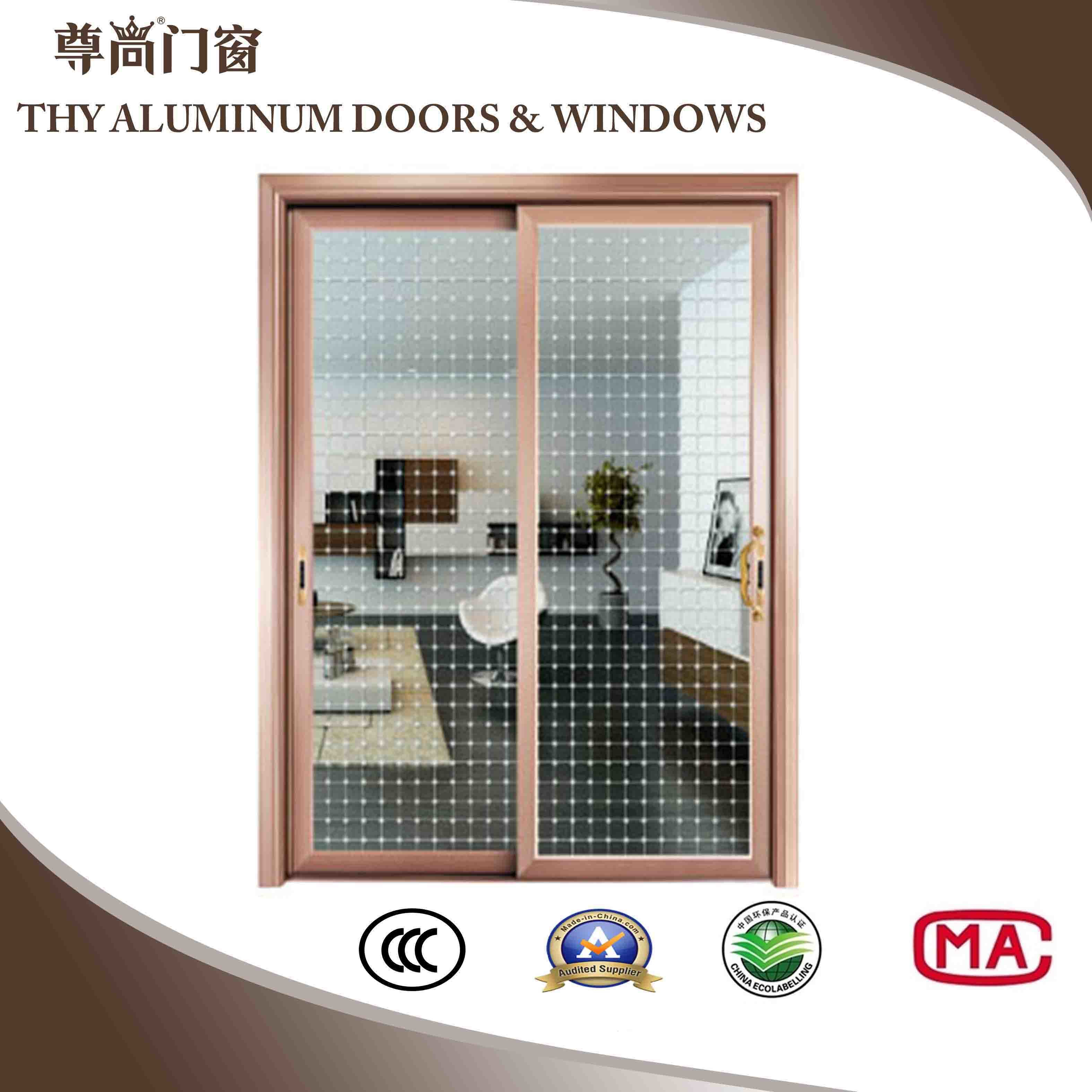 China 10mm20mm Aluminium Hanging Door With Inlaid Mosaic