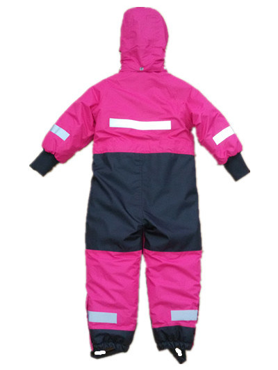 Pink Hooded Reflective Waterproof Jumpsuits pictures & photos