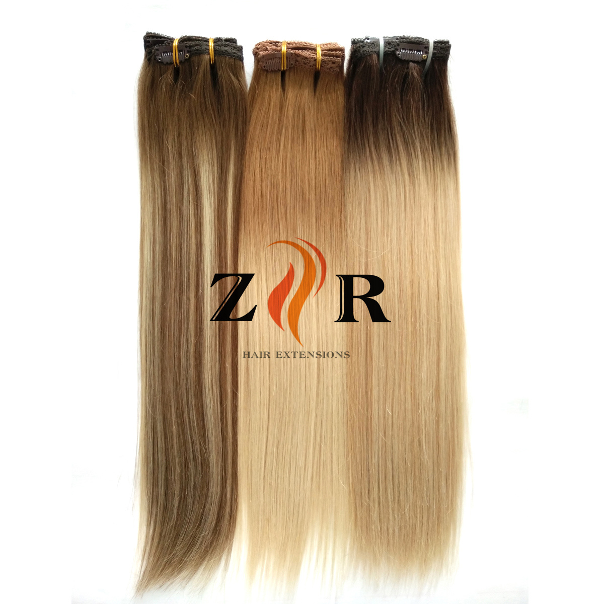 China Blonde Color Cuticle Remy Hair Human Hair Extension Clip In