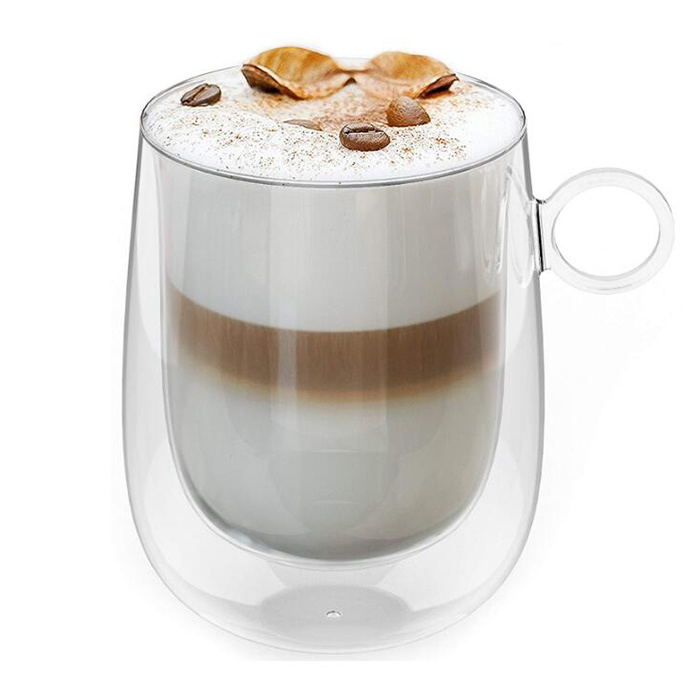360ml Double Wall Glass Coffee Cup Cappuccino Coffee Cup Latte Coffee Cup Espresso Glass Cup China Cappuccino Coffee Cup And Espresso Glass Cup Price Made In China Com