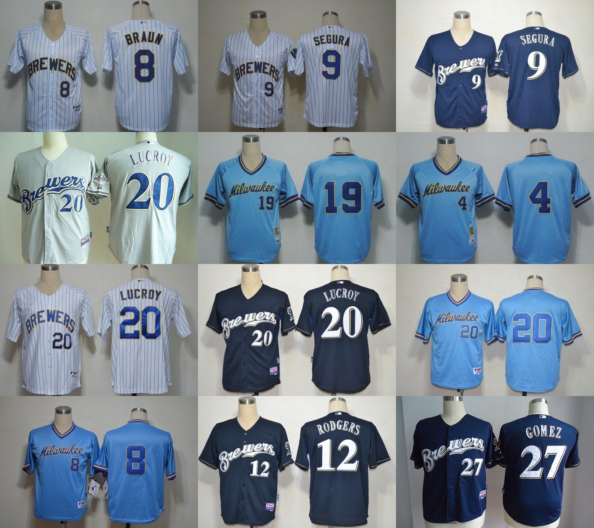 huge discount 9952b ad2e9 [Hot Item] National League Milwaukee Brewers Gomez Baseball Jerseys
