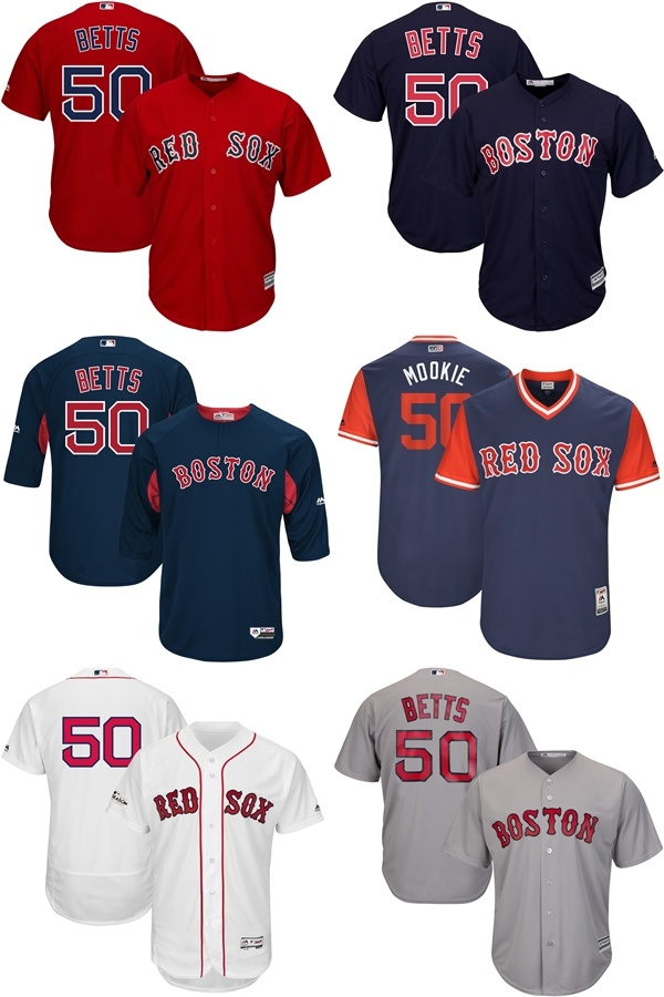 separation shoes 04f3b be176 [Hot Item] Boston Red Sox Mookie Betts Majestic Authentic Collection  on-Field Baseball Jerseys