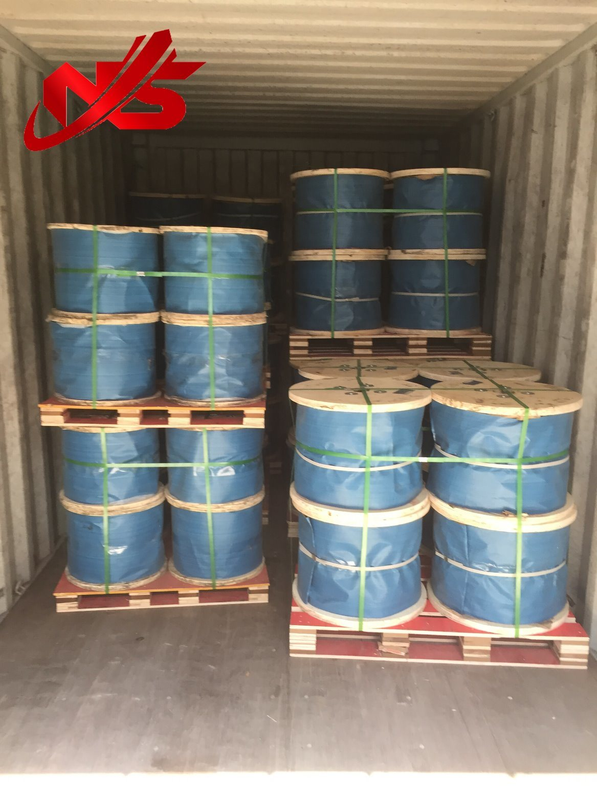 China Ungalvanized Steel Wire Rope 6X37+FC/Iws/Iwrc One Red Colour ...