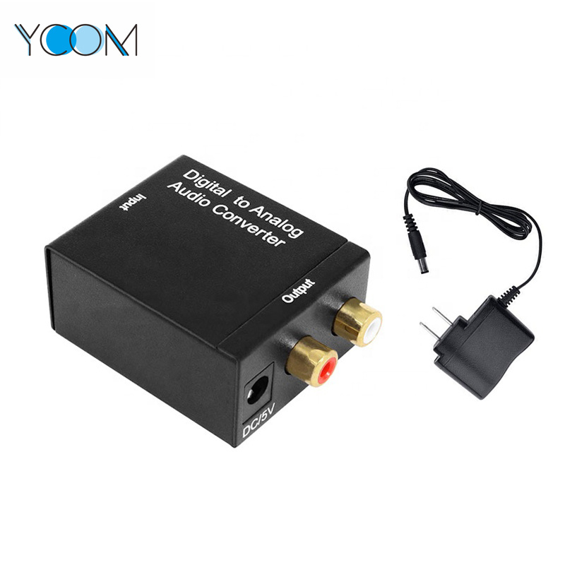 YCOM 3.5mm Digital to Analog Audio Converter Black pictures & photos