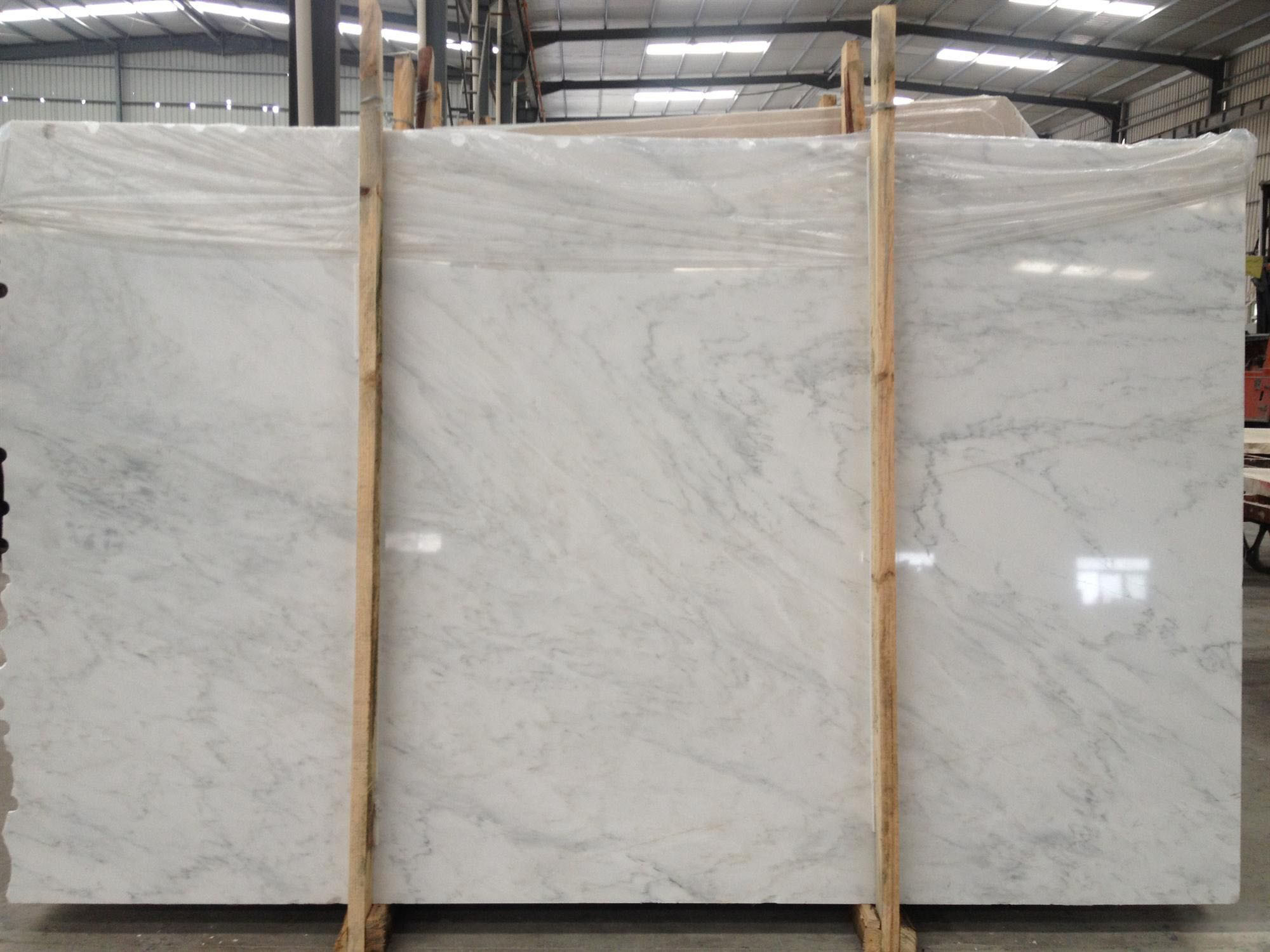 China Cleaning Carrara White Marble For Bathroom Counter