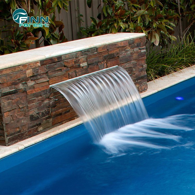 [Hot Item] Outdoor Stainless Steel Swimming Pool Water Blade Wall Waterfall  Fountains