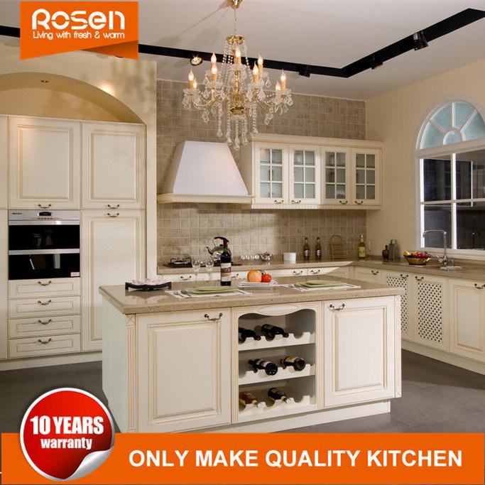 China Modern Modular White Shaker Style Solid Wood Rta Kitchen