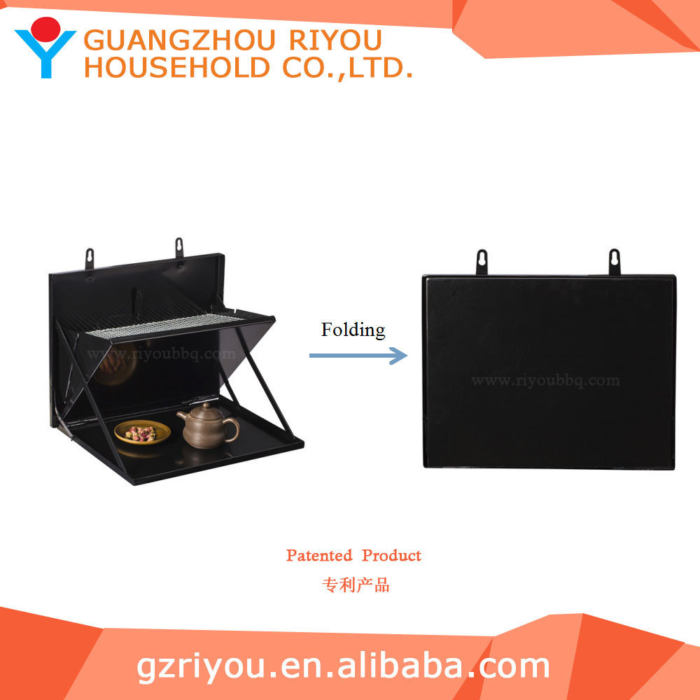 Wall Mounted Bbq Smoker Charcoal Grill