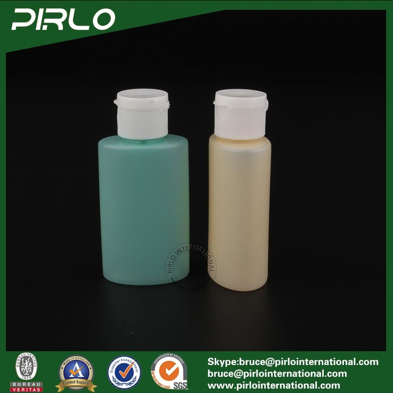 50ml Refillable HDPE Plastic Bottle with Flip Top Lotion Cap