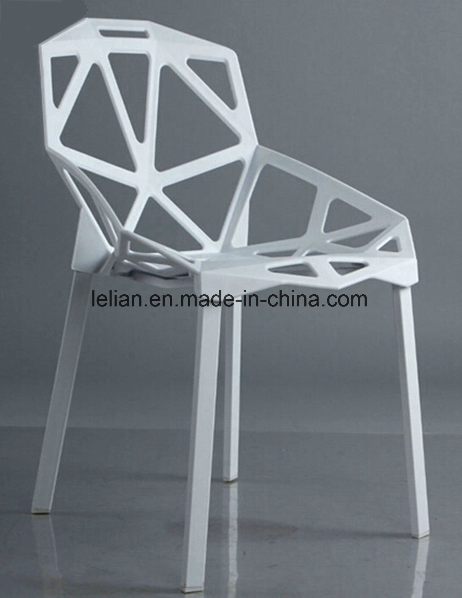 Painted Metal Legs with Plastic Seating Stack Chair (LL-0042)