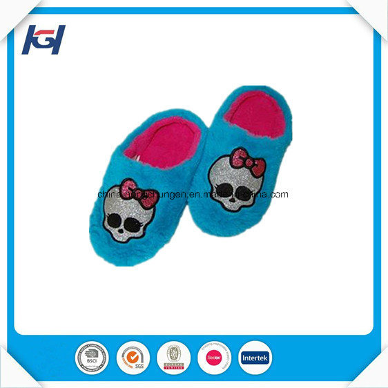 Soft Fur Fluffy Kids Foot Warmers Sleeping House Slippers pictures & photos