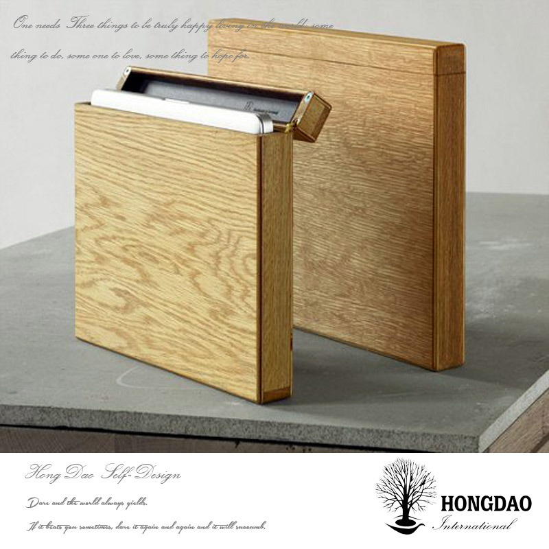China Hongdao Custom Simple Wooden Notebook Storage Box Wholesale C