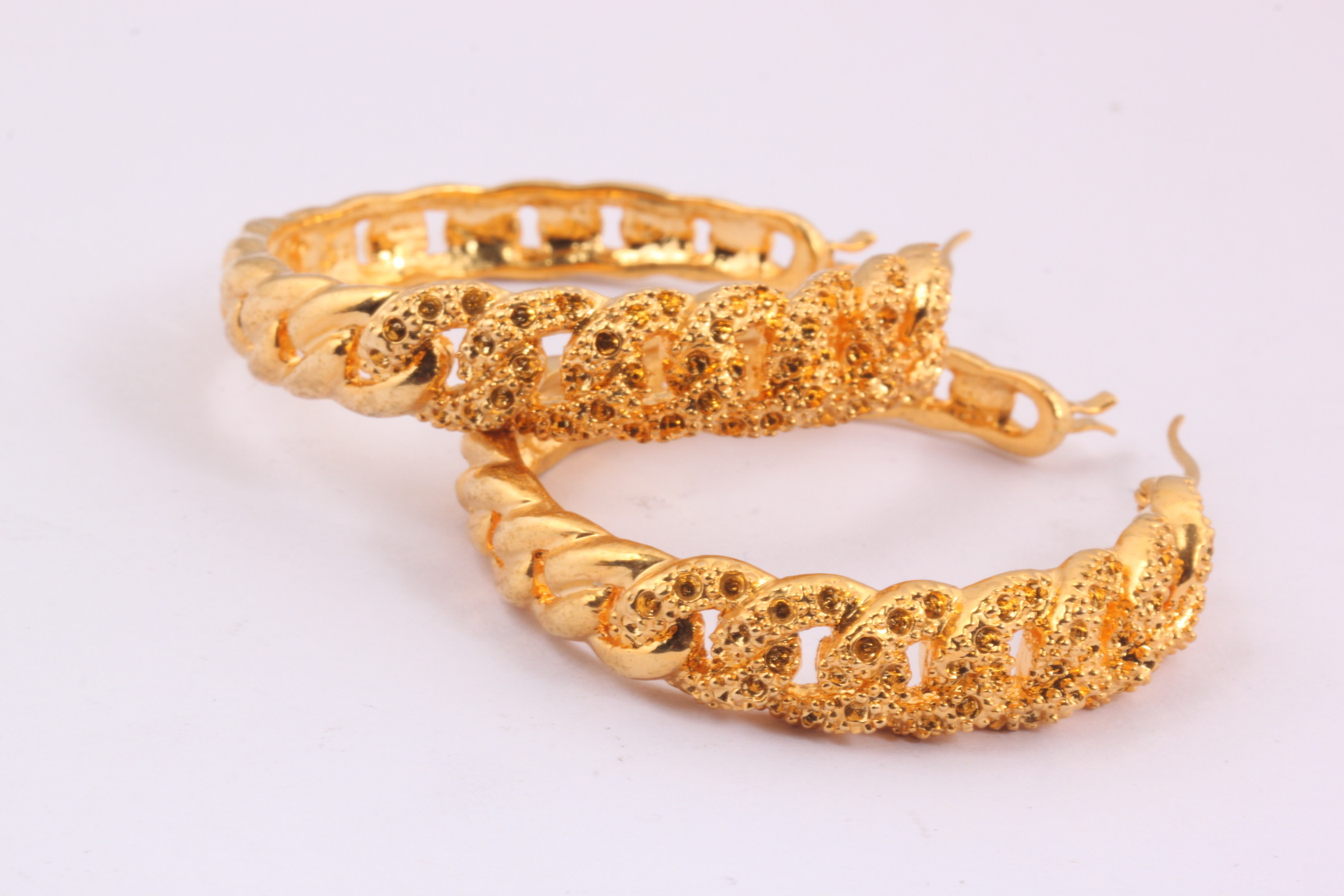 Fashion Stainless Steel Gold Plated Hoop Earrings for Women