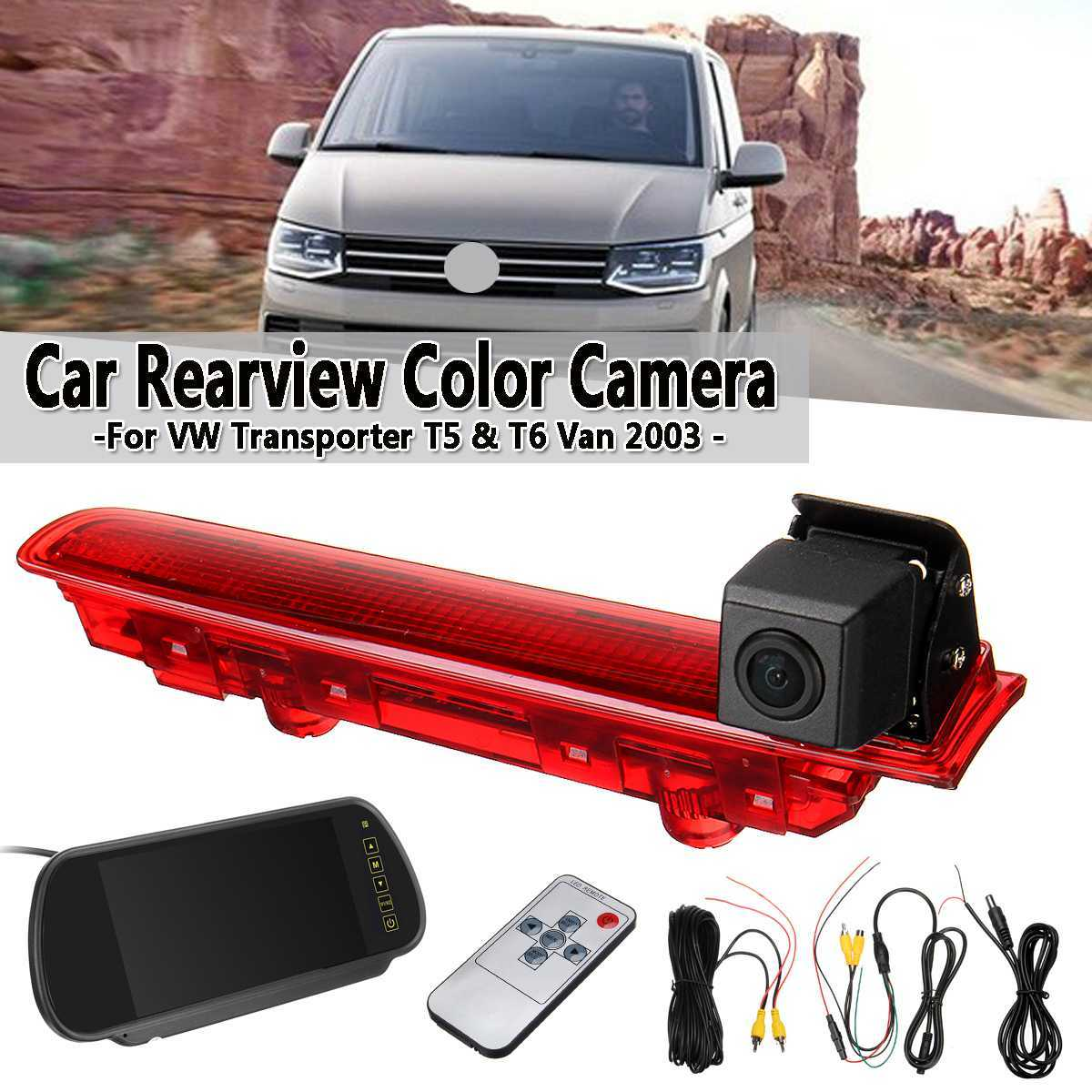 China Vw Transporter T5 T6 Reverse Brake Light Camera 7inch Rearview Display China Color Ir Ccd Camera Vw Transporter Brake Light Camera