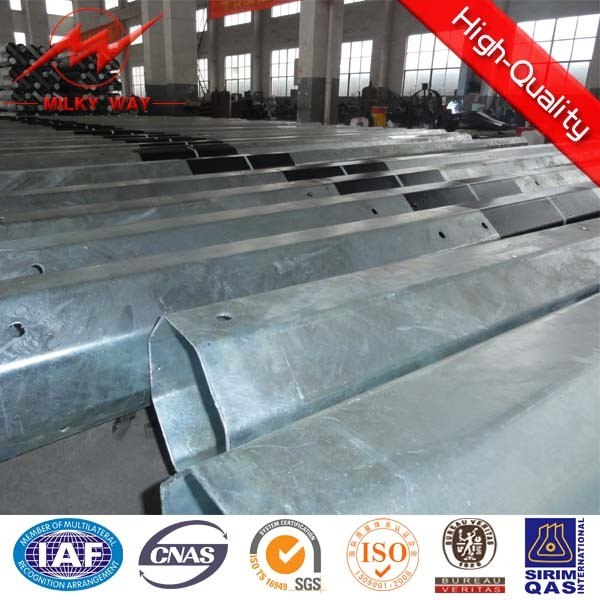 Polygonal Section Galvanized Steel Pole Pipe
