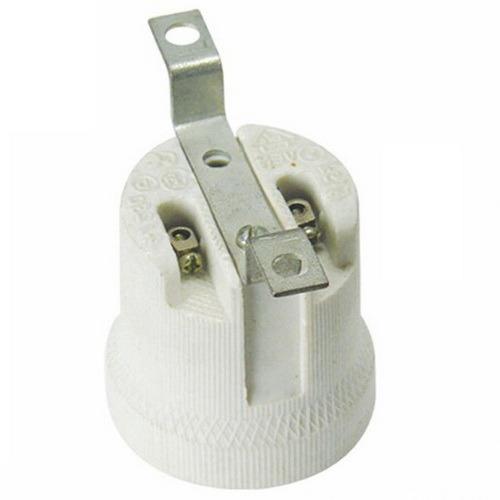E27 Porcelain Lamp Holder With Bracket (SH 519F)
