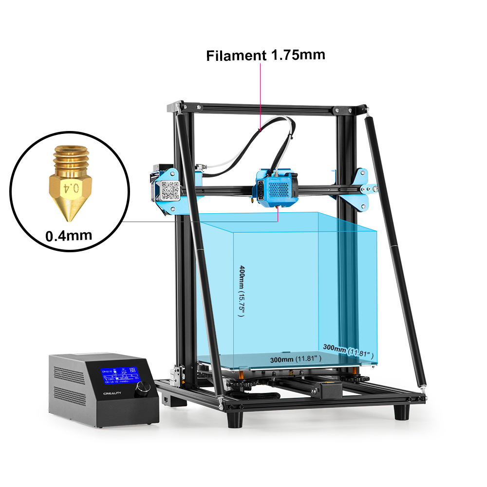 Creality 3D Printer Cr-10 V2 300*300*400mm Fdm Desktop 3D Printer pictures & photos
