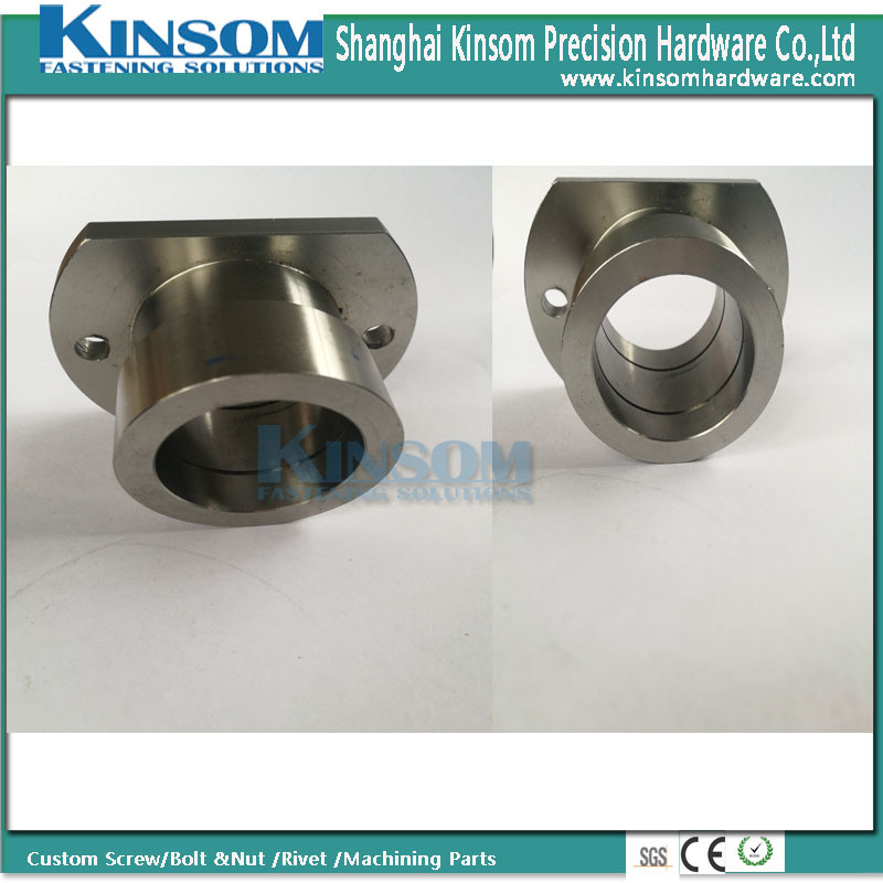 Precision Metal Processing Machinery Parts Connector with Foundation Hole Stainless Steel pictures & photos