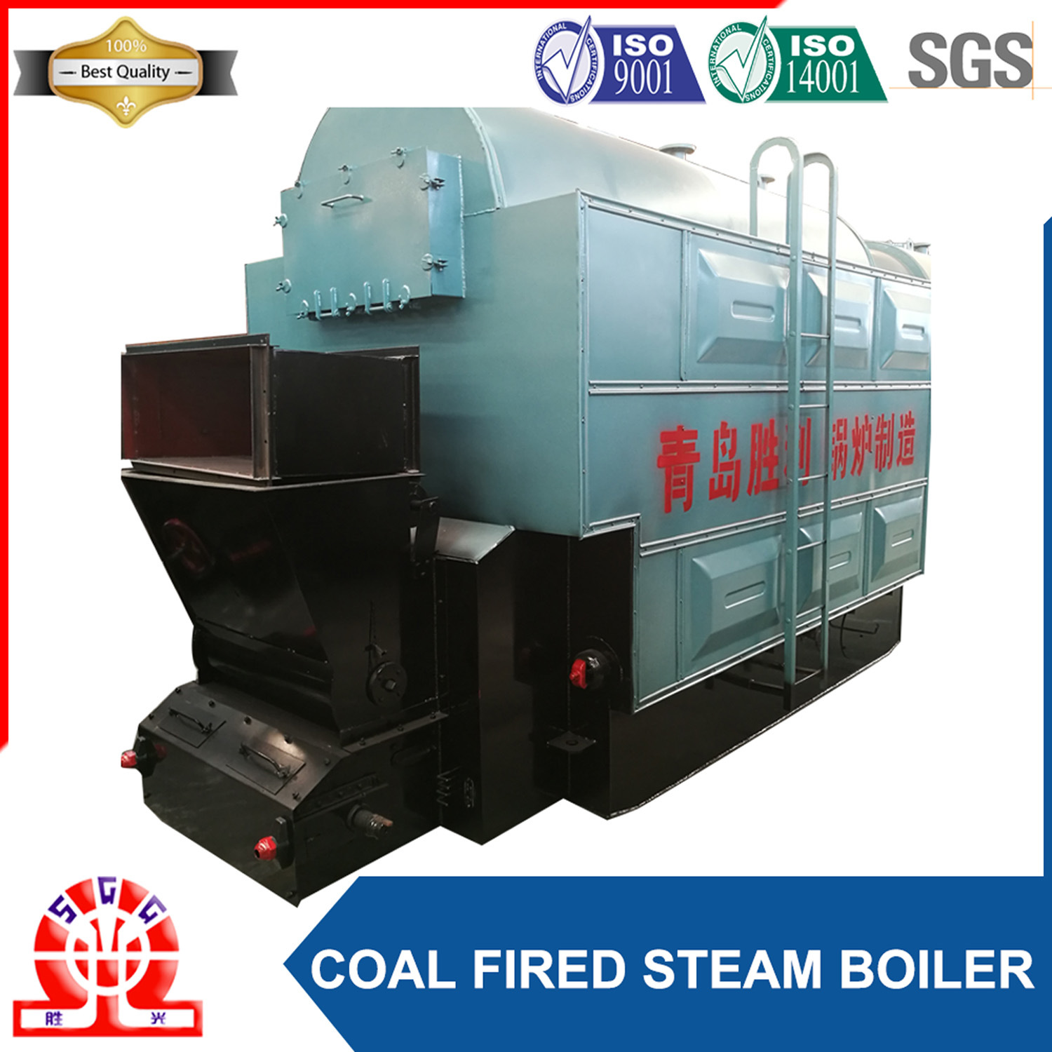 China Good Price 1ton/Hr 10bar Horizontal Coal Fired Steam Boiler ...