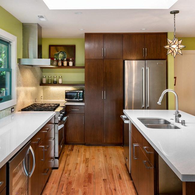 China Luxury Solid Wood Best Kitchen Cabinets Teak