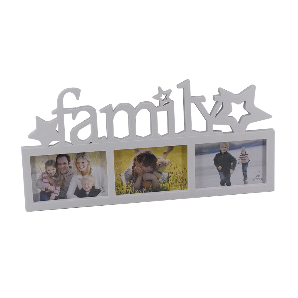 China Injection Picture Photo Frame with Family Letters Photos ...