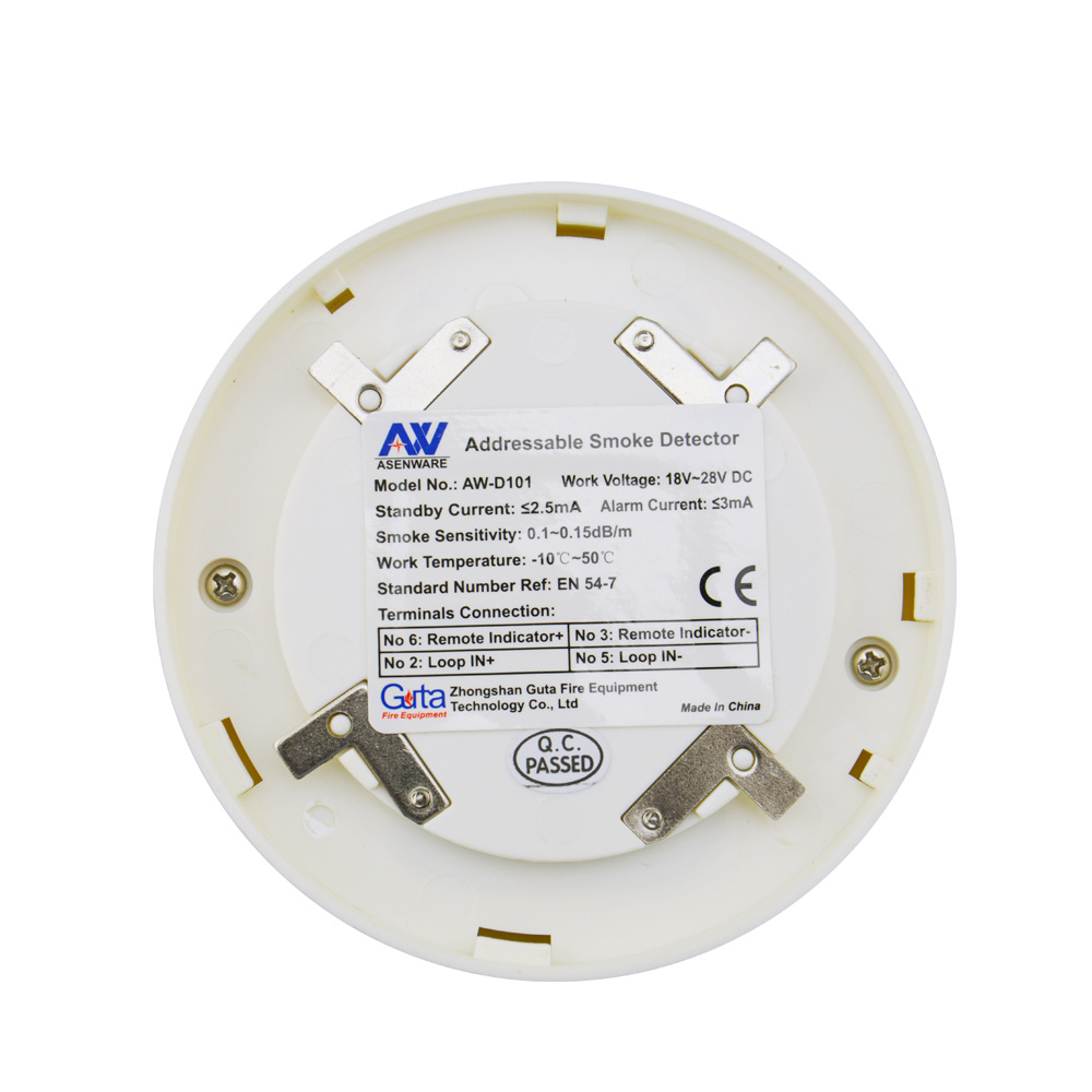 China Addressable Smoke Detector Can Be Addressed Individually Fire ...