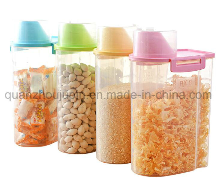 China OEM BPA Free Plastic Storage Container Grains Cereal Canister