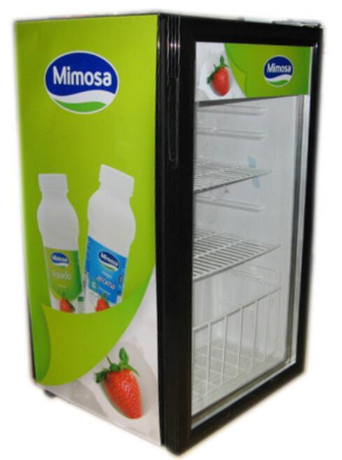 Countertop Glass Door Mini Refrigerator For Drinks And Beverage Jga Sd58