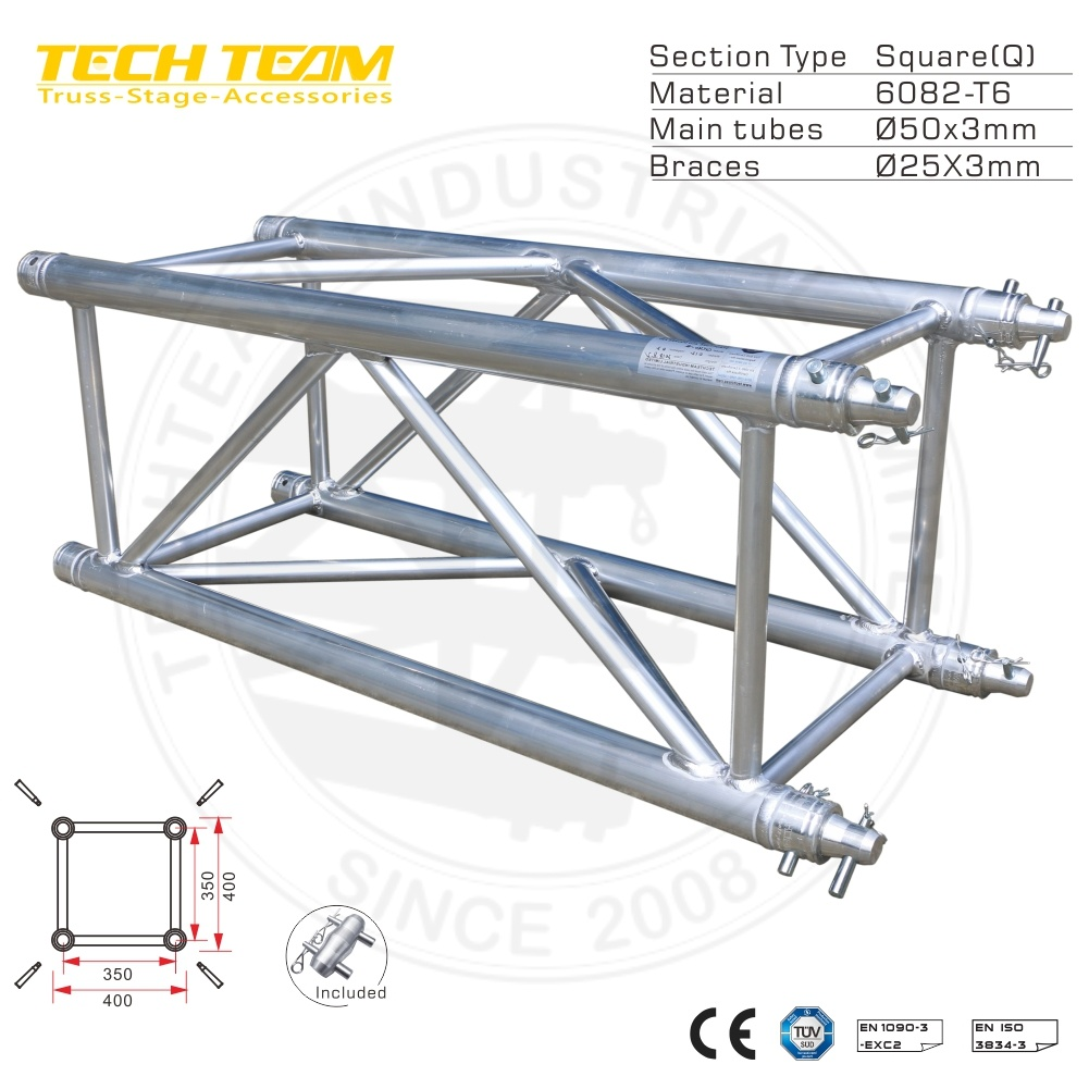 China Heavy Duty Giant Tunnel Roof Truss System High Concert