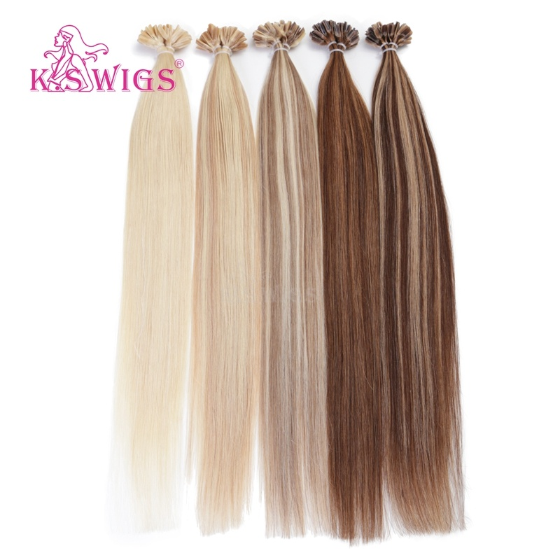 K. S Wigs 6A Indian Remy Virigin Human Hair U-Tip Hair Extensions pictures & photos