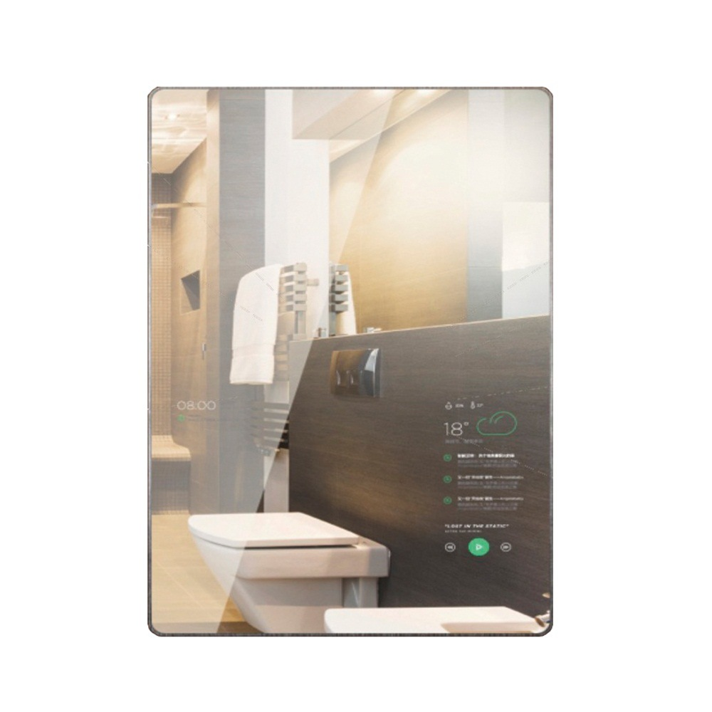 China 55 Inch Bathroom and Restroom Magic Mirror Advertising Display ...