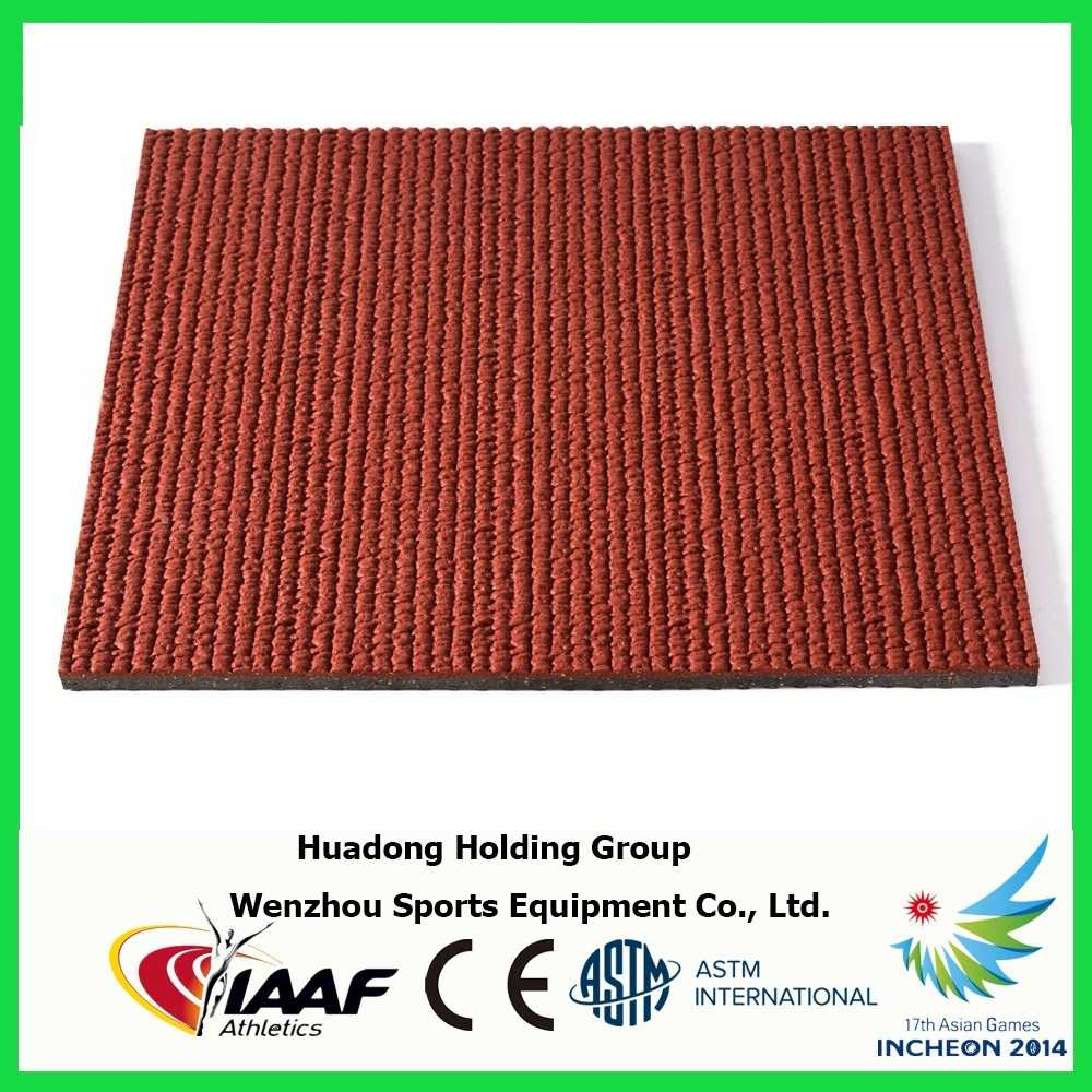 Synthetic Outdoor Rubber Athletic Track Material Rubber Flooring pictures & photos
