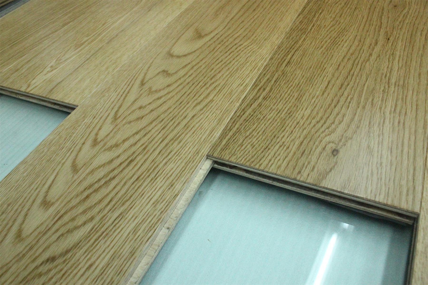 China Ab Grade Wax Oil Wide Plank Oak Flooring Wood Engineered