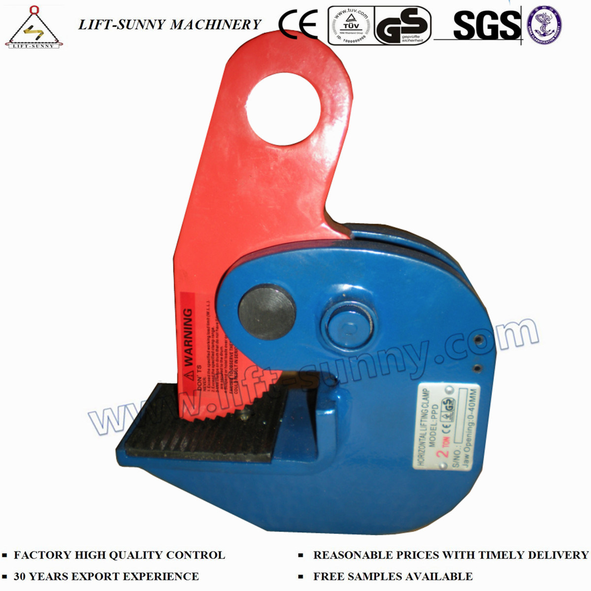 Horizontal Steel Plate Lifting Clamp for Lifting pictures & photos